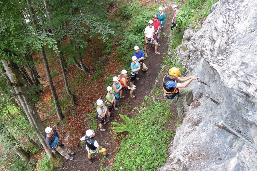 Klettersteig Kitzbühel : Klettersteig klamml mit Ösv abfahrtsteam offiziell eröffnet
