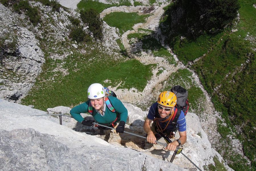 Klettersteig Klamml : Klettersteig klamml mit Ösv abfahrtsteam offiziell eröffnet