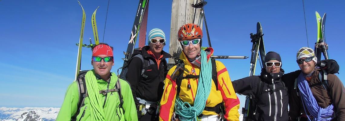 Berg- und Skiführeraspiranten am Weg zum Anwärter